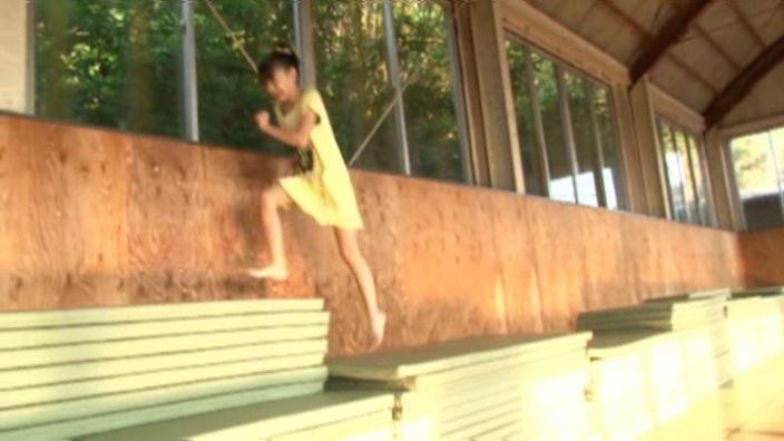 6年目のランドセル 「木村葉月」紺フリルチューブ体育館走り