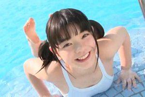 JCスマイル 「星野希」白競泳水着上半身