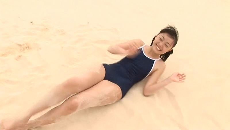Teen Spirit「真野しずく」スクール水着全身寝転び