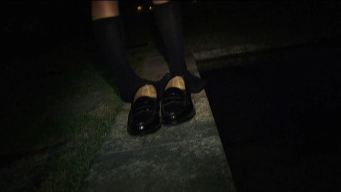 美少女チャレンジ「佐々木みゆう」制服くつ