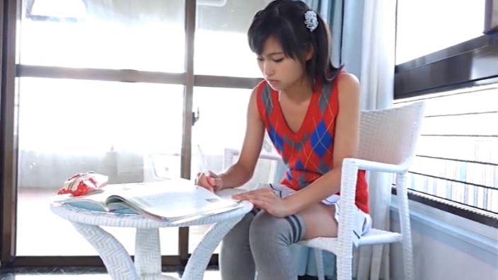 「美少女伝説 西山乃利子」赤衣装勉強