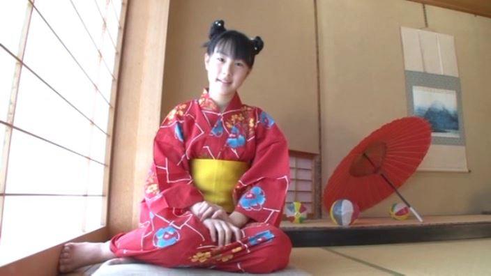「ボクの太陽 Vol.7 新原里彩」浴衣横座り