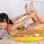 「美少女伝説 のりチュ 西山乃利子」白ビキニ浮き輪エビぞり