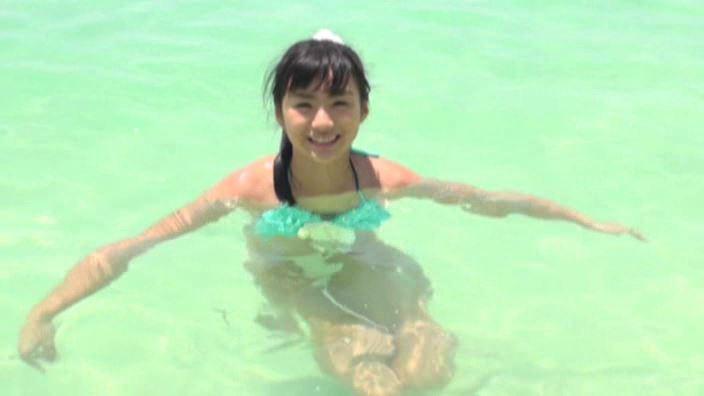 ちか好きすぎ 「清水ちか」緑ビキニ海中