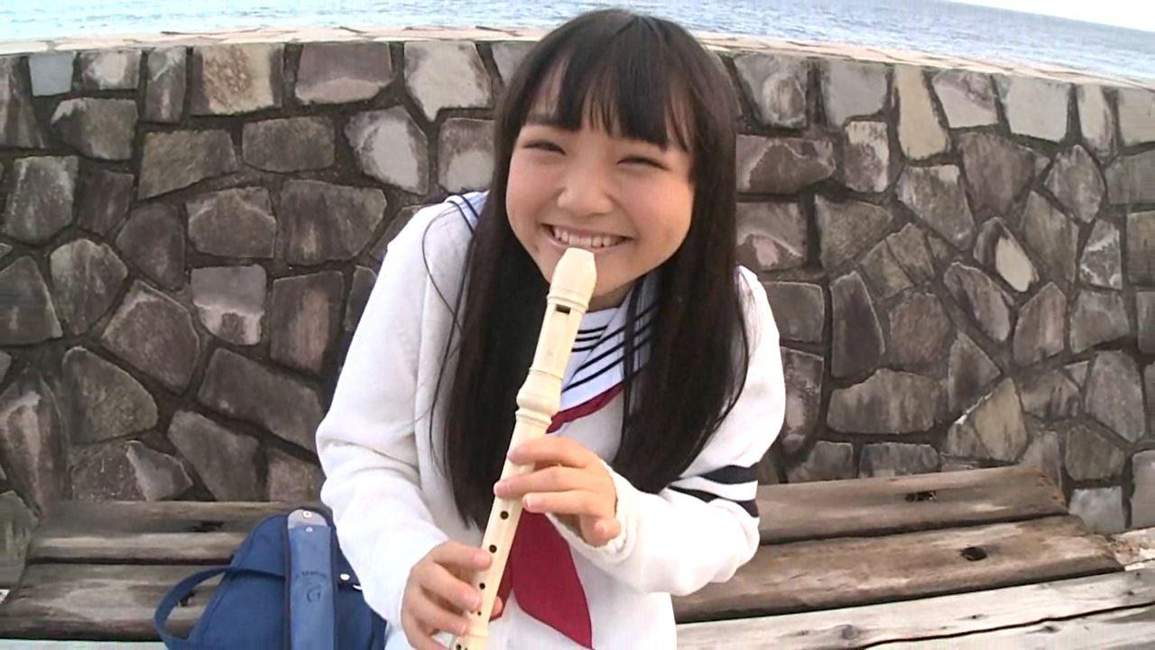 「はじめまして 学校なう! 見上瑠那」制服笛
