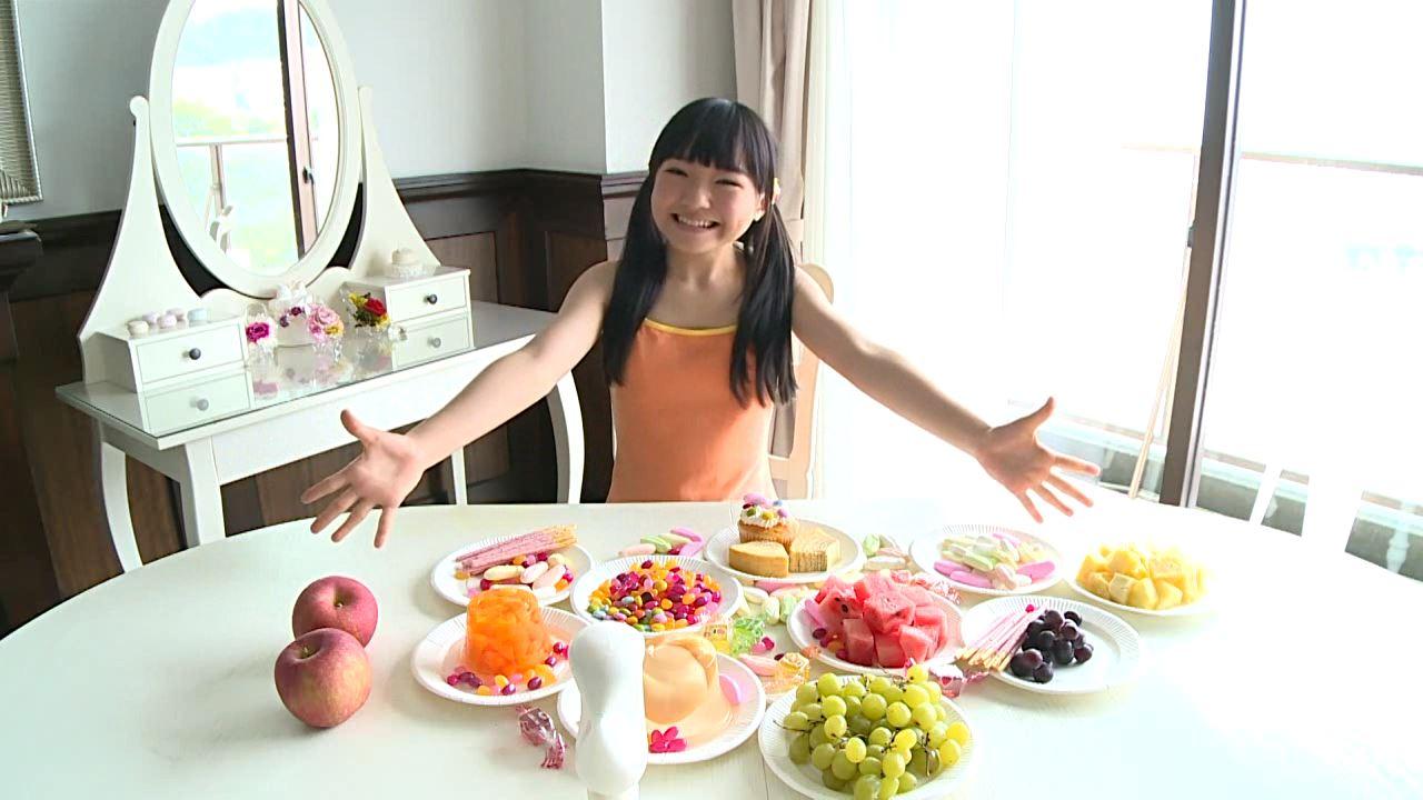 「はじめまして 学校なう! 見上瑠那」オレンジタンクデザート三昧