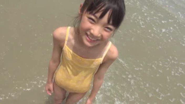 「花よりすみれ」河合すみれ黄色水着海水立ち