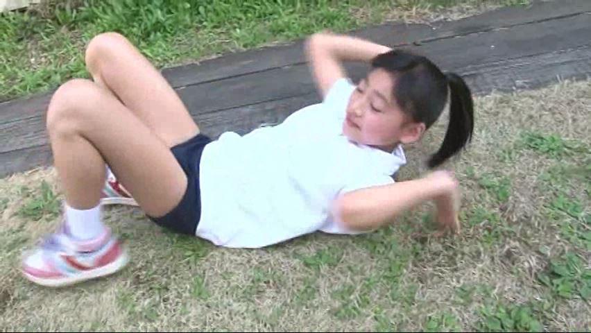 ひまわり11号「早坂美咲」体操着でブリッジ崩れ