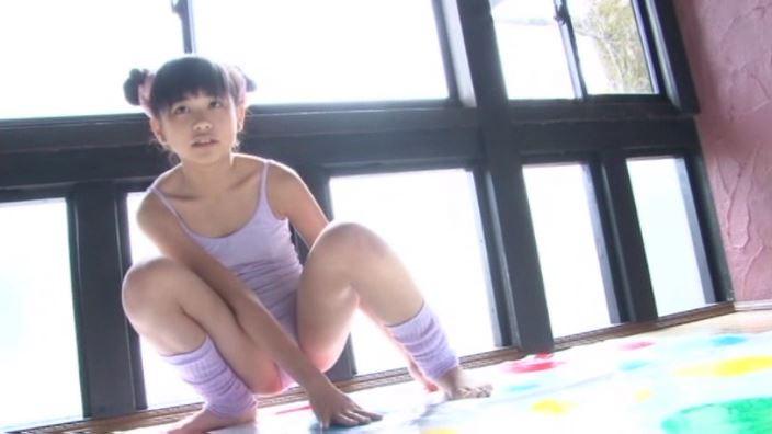 いちごミルク「野村苺花」紫レオタードツイスター