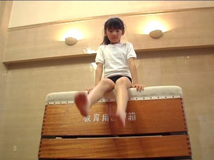 「金子美穂 9歳」ブルマ跳び箱