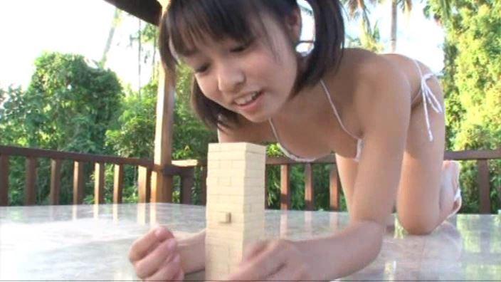 「キラリ☆MISAKI 森実咲」青シャツビキニジェンガ
