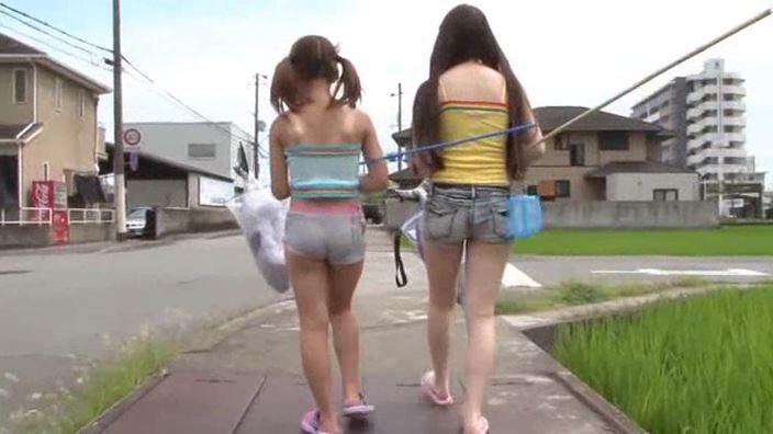 生意気JSぷちぎゃる カナちゃん「藤波かなる」虫取り姉妹背面
