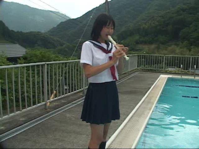 「ぷち濡れ Vol.1 星那育見 14才」制服リコーダー立ち