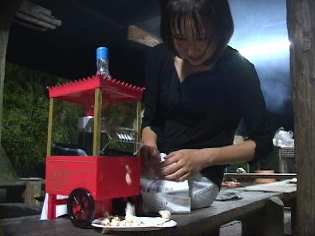 「ぷち濡れ Vol.1 星那育見 14才」黒衣装ポップコーン