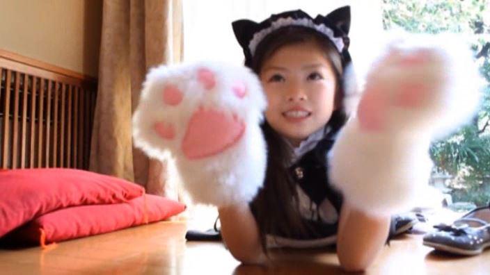 少女のままで 「水谷彩音」メイド猫両手