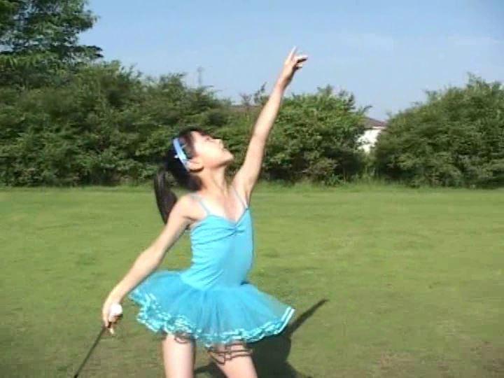 「天使の絵日記 眩しい陽射しに微笑み返し 杏なつみ」レオタード草原ダンス