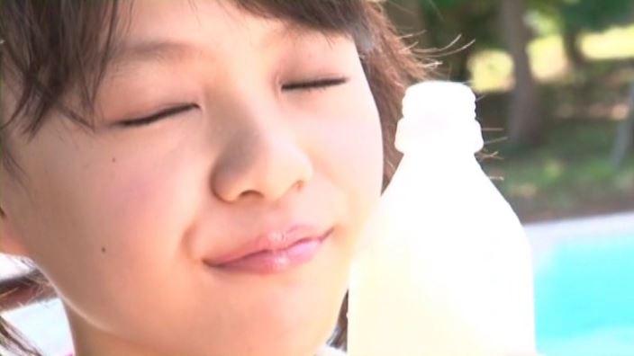 ずっと一緒 「宮田飛鳥」赤ビキニ顔ドリンク